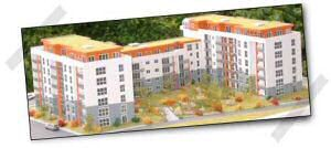 Modell vom Bauvorhaben Rebstockpark II